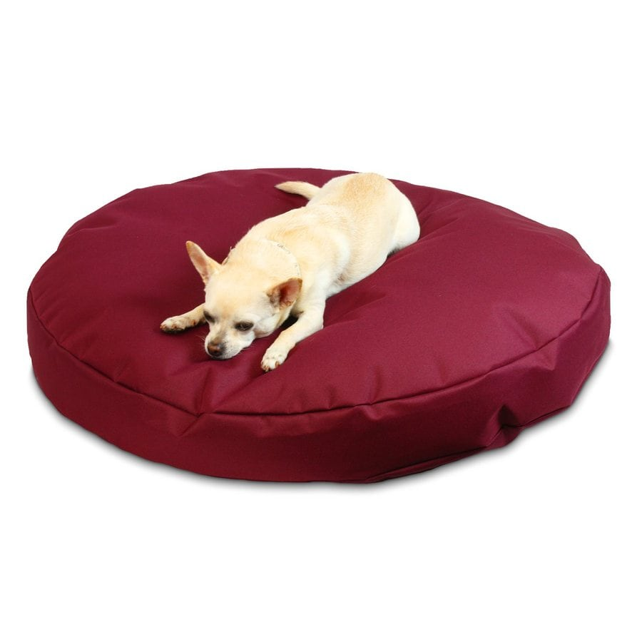 Snoozer Burgundy Polyester Round Dog Bed