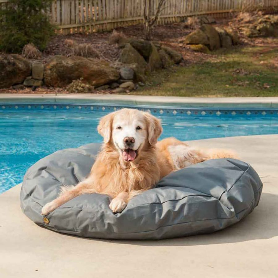 Snoozer Gunmetal Polyester Round Dog Bed