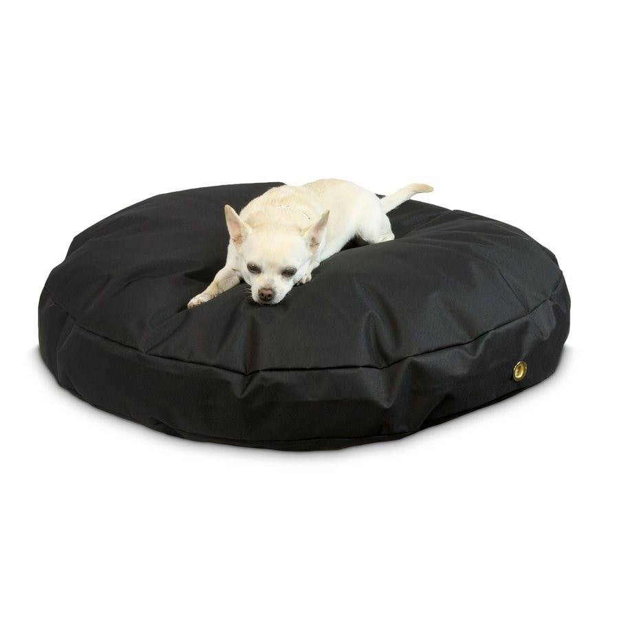 Snoozer Black Polyester Round Dog Bed