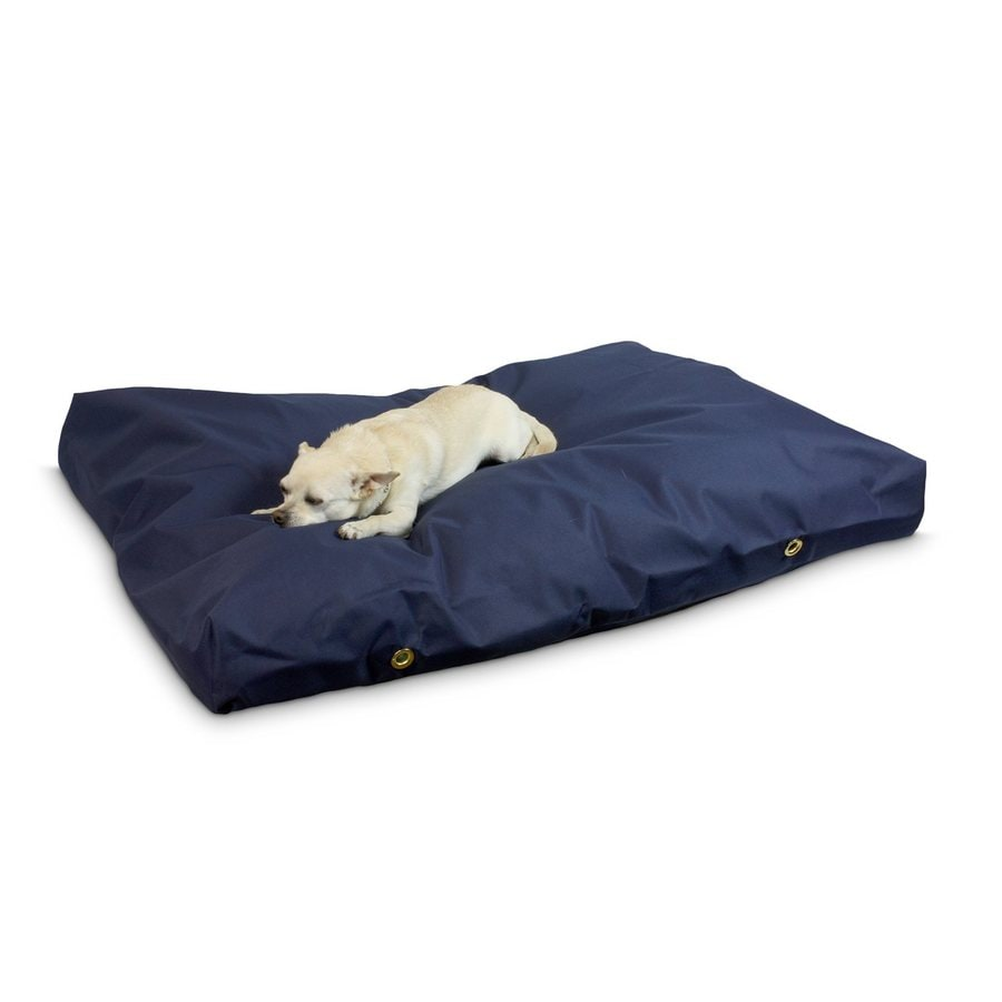 Snoozer Navy Polyester Rectangular Dog Bed