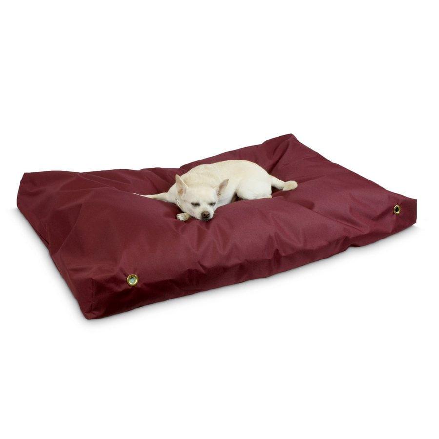Snoozer Burgundy Polyester Rectangular Dog Bed