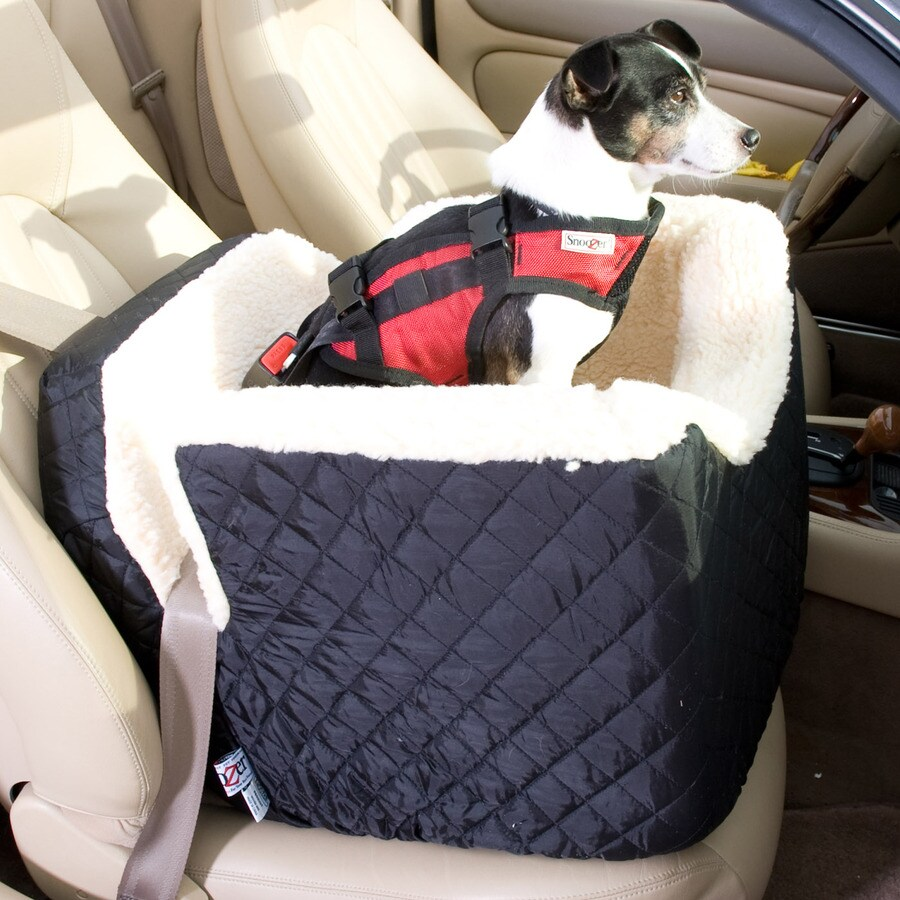 Snoozer 22-in Black Fabric Dog Car Seat Booster