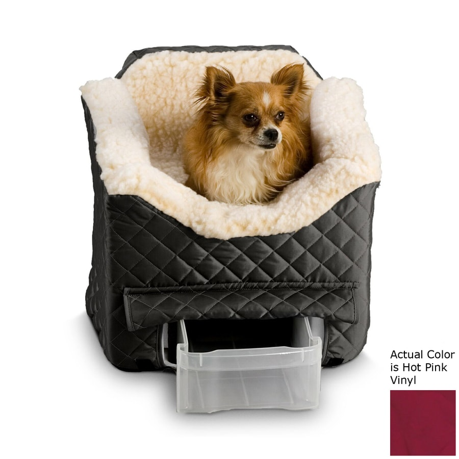 Snoozer 22 In Pink Fabric Dog Car Seat Booster