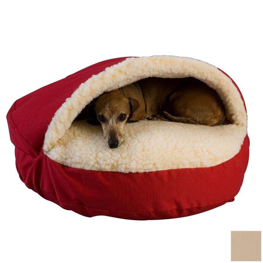 Snoozer Khaki Poly Cotton Round Dog Bed
