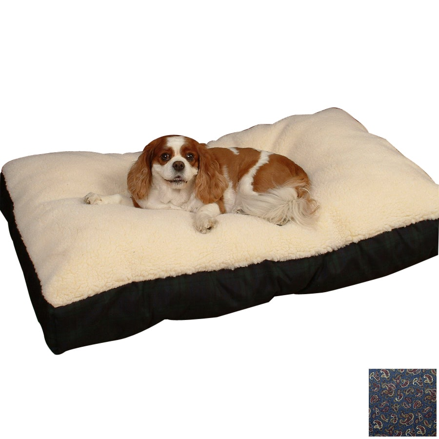 Snoozer Cream/Paisley Polyester/Cotton Rectangular Dog Bed