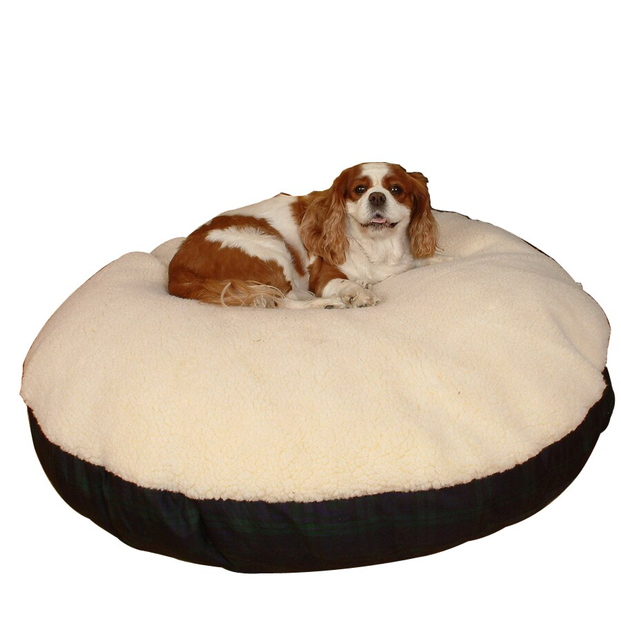 Snoozer Black/Medium Blue Polyester/Cotton Round Dog Bed
