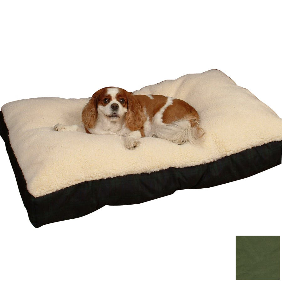 Snoozer Black/Olive Polyester/Cotton Rectangular Dog Bed