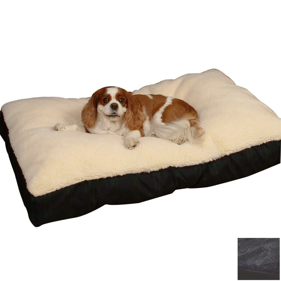 Snoozer Black/Black Polyester/Cotton Rectangular Dog Bed