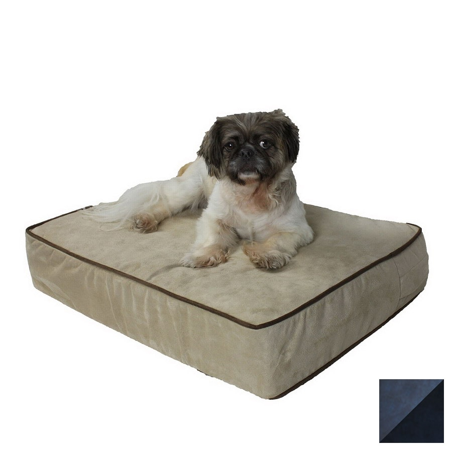 Snoozer Anthracite/Black Microsuede Rectangular Dog Bed