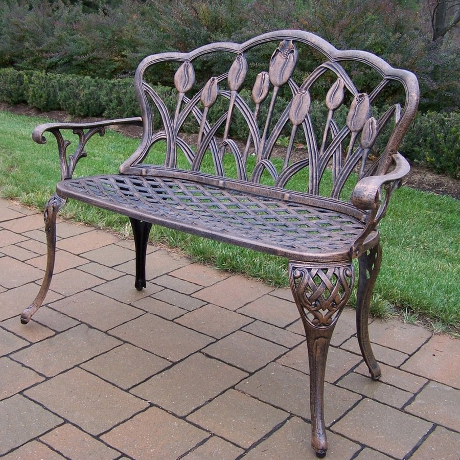 Oakland Living Tulip 22 In W X 44 In L Antique Bronze Aluminum Patio