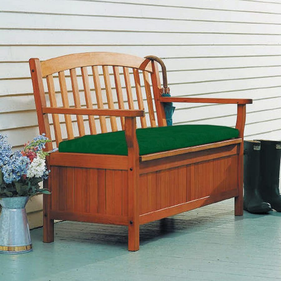 ACHLA Designs 48-in L Painted Wood Patio Bench