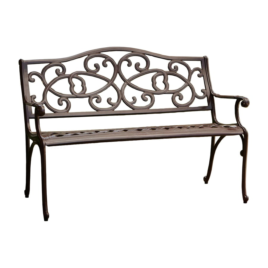 Shop Best Selling Home Decor W X L Antique Brown Aluminum Patio Bench At
