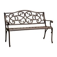 Charming Best Selling Home Decor 26.77 In W X 48.42 In L Antique Brown Aluminum
