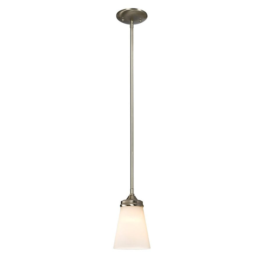 Galaxy Franklin 4.5-in Brushed Nickel Mini Bell Pendant