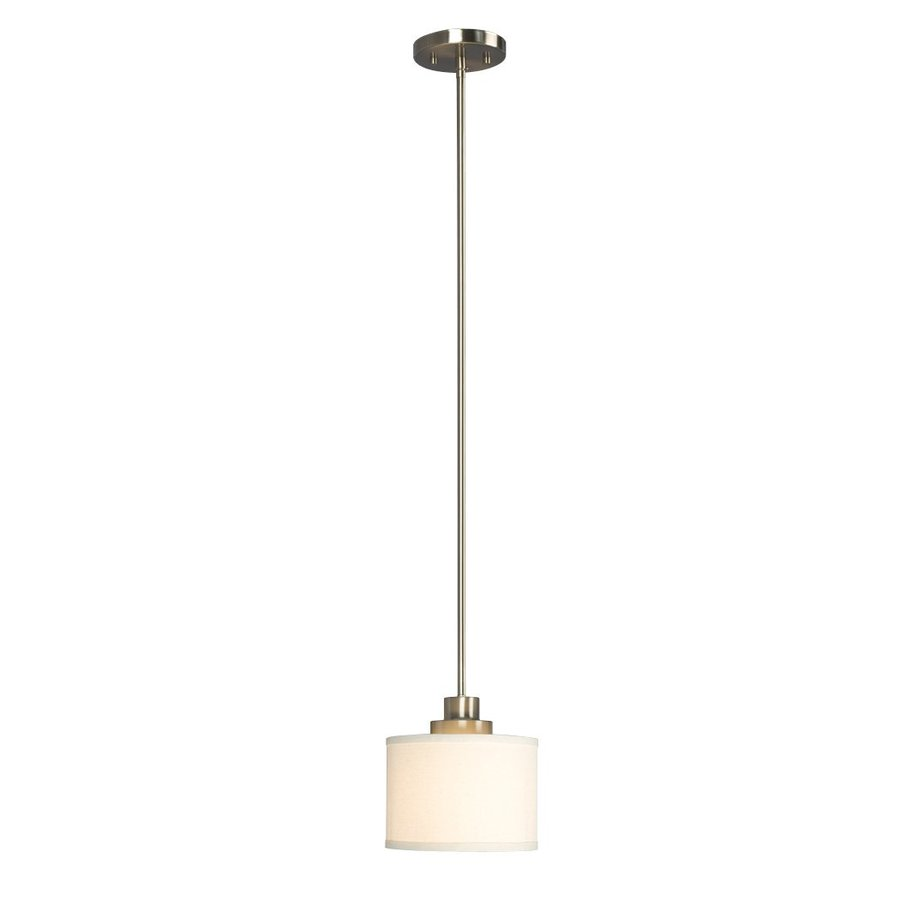 Galaxy Landis 7.25-in Brushed Nickel Industrial Mini Drum Pendant