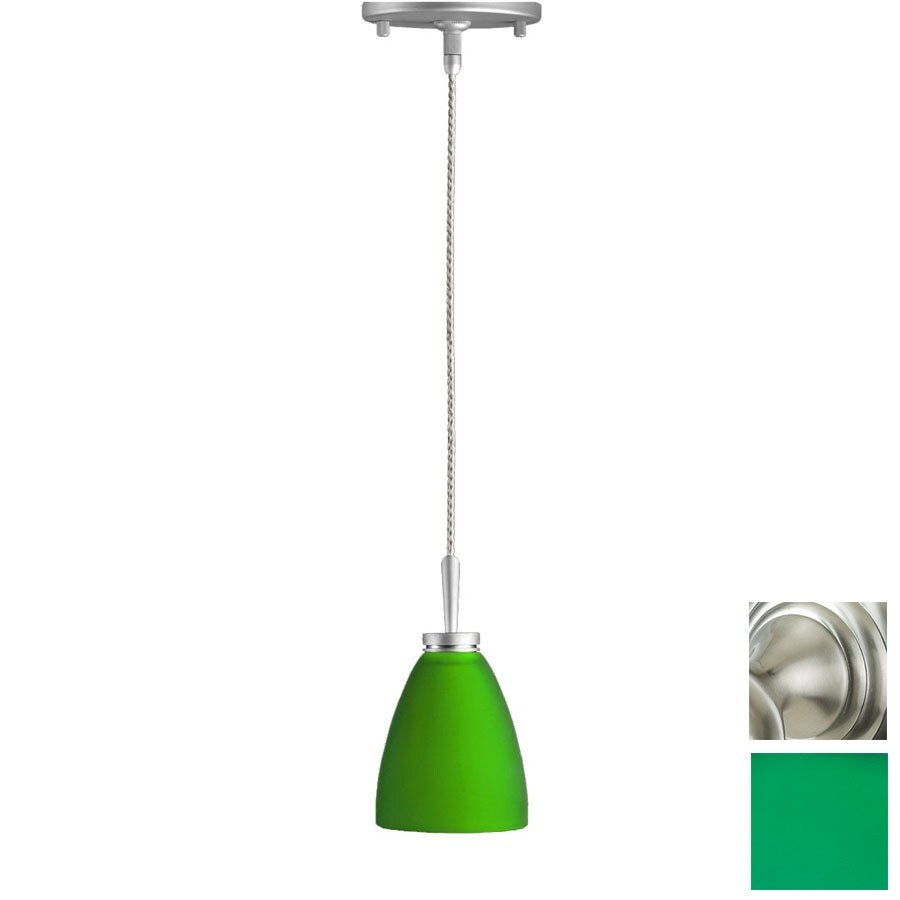 Focalor 3-in W Gina Satin Nickel Mini Pendant Light with Shade  sc 1 st  Loweu0027s & Shop Focalor 3-in W Gina Satin Nickel Mini Pendant Light with ... azcodes.com