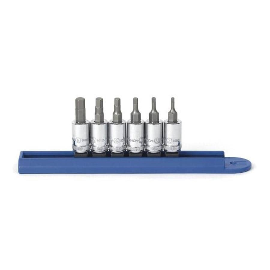 KD Tools 6-Piece 1/4-in Drive Hex Driver Socket Set