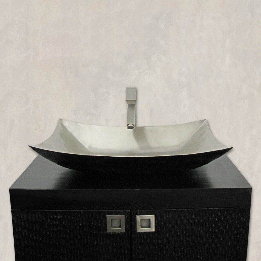 Shop Terra Acqua Santa Ynez Copper Rubbed Nickel Vessel Rectangular Bathroom Sink At