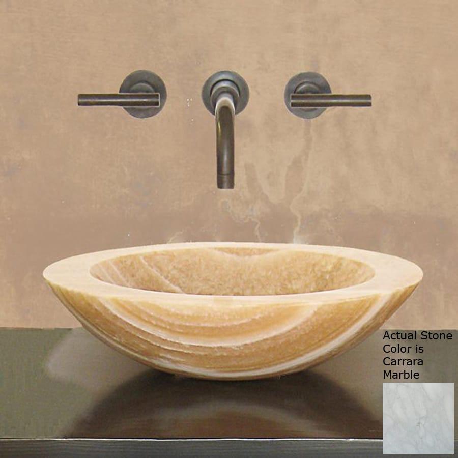 Carrara Marble Bathroom Sink: Shop Terra-Acqua Montecito Carrara Marble Vessel Round
