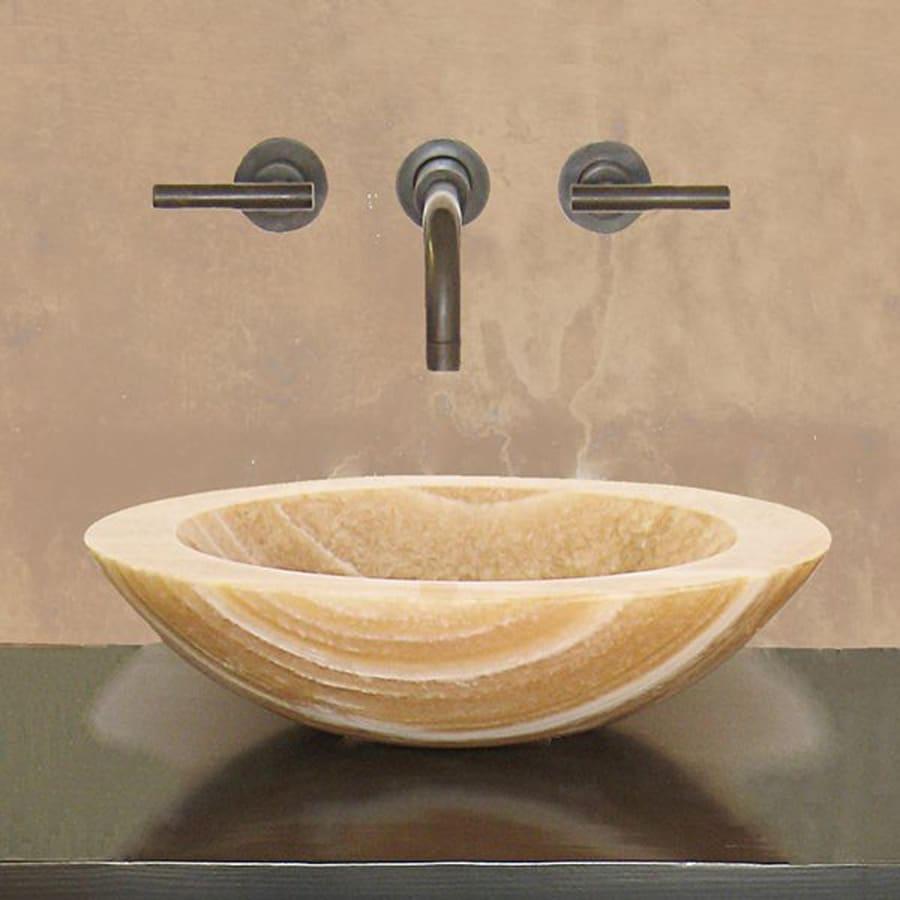 Terra-Acqua Montecito Honey Onyx Stone Vessel Round Bathroom Sink