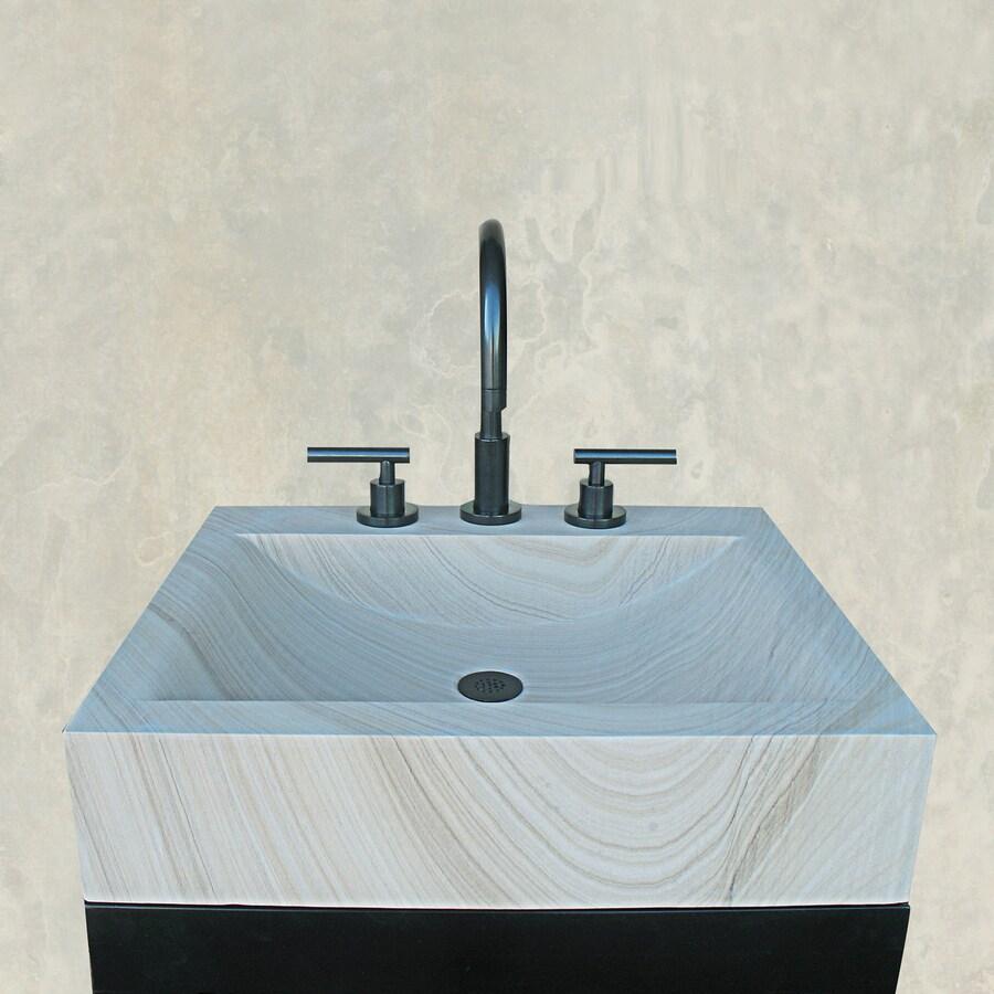 Terra-Acqua Montecito Sandstone Stone Vessel Rectangular Bathroom Sink