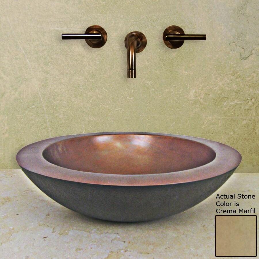 Terra-Acqua Santa Ynez Smooth Copper Vessel Round Bathroom Sink