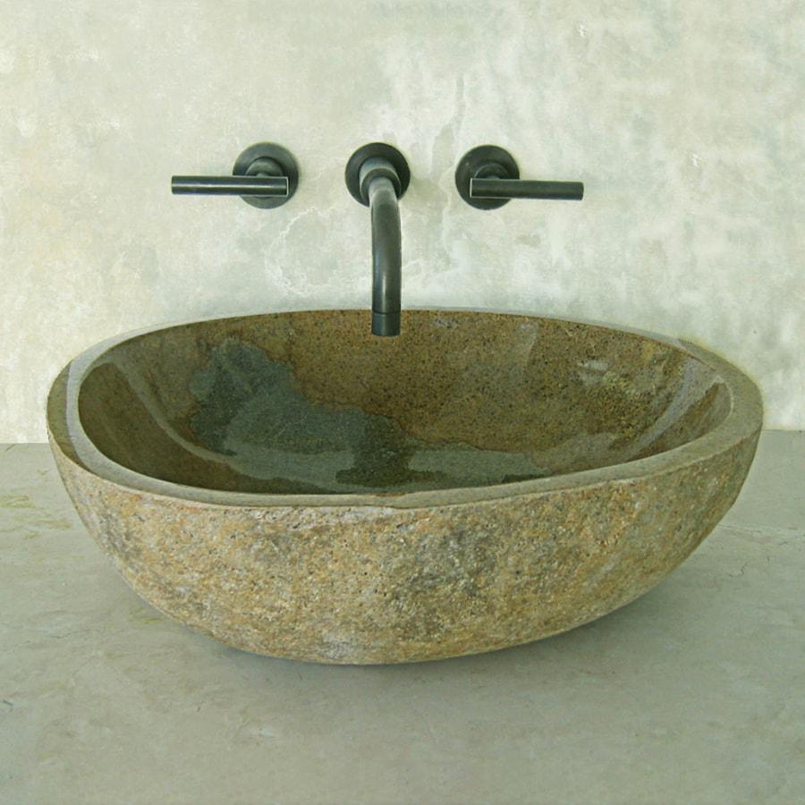Terra-Acqua Montecito Amber Stone Vessel Round Bathroom Sink