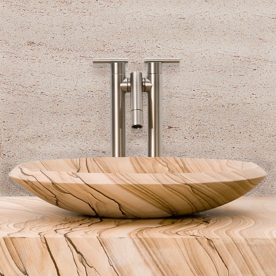 Terra-Acqua Montecito Sandstone Stone Vessel Oval Bathroom Sink