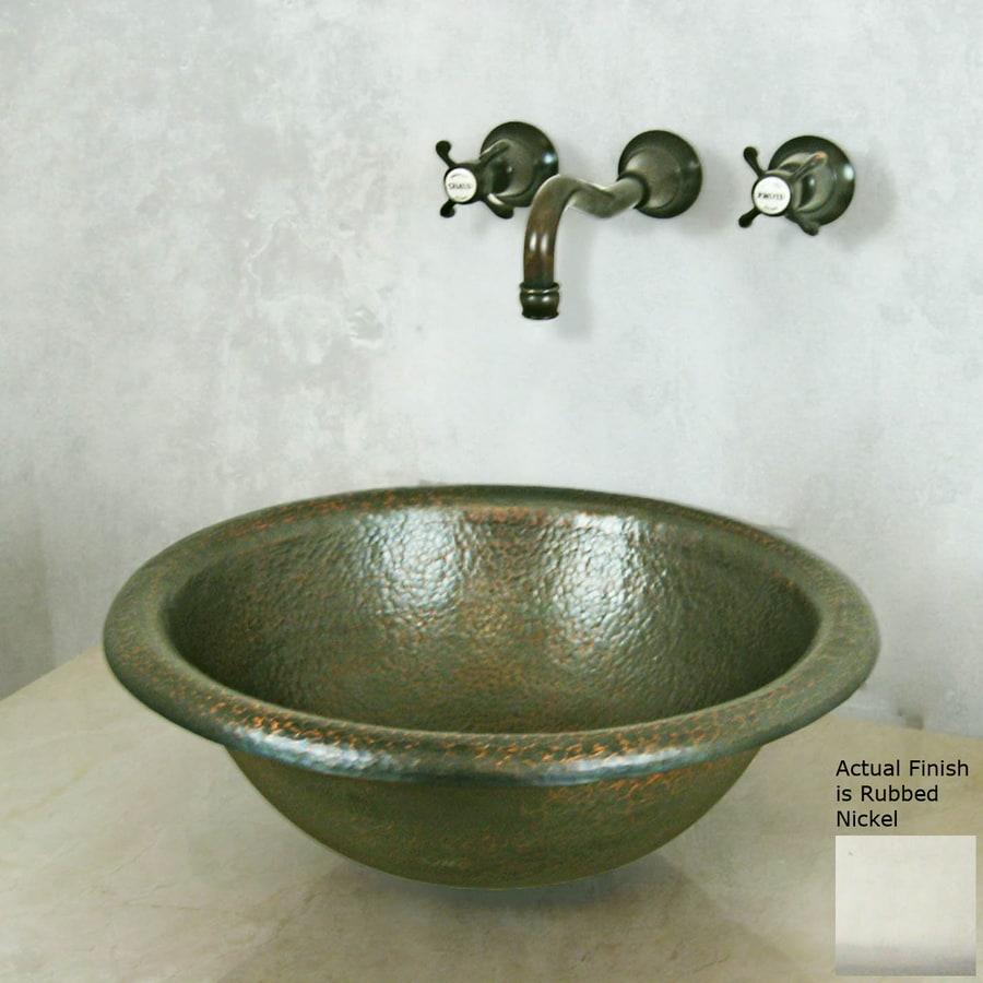 Terra-Acqua Santa Ynez Rubbed Nickel Copper Vessel Round Bathroom Sink
