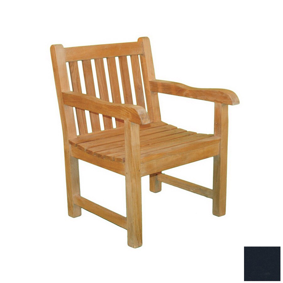 Jewels Of Java English Garden Teak Patio Chair With Textured Cushion