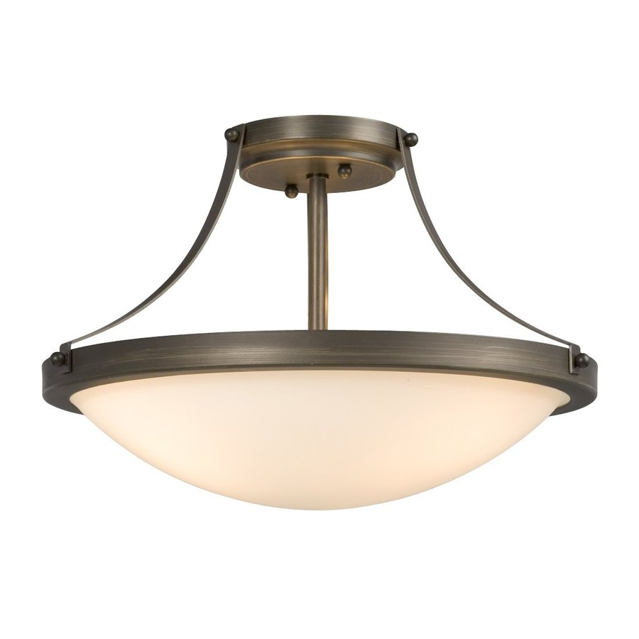 Shop Galaxy Maycrest 16 In W Oil Rubbed Bronze Semi Flush Mount Light At