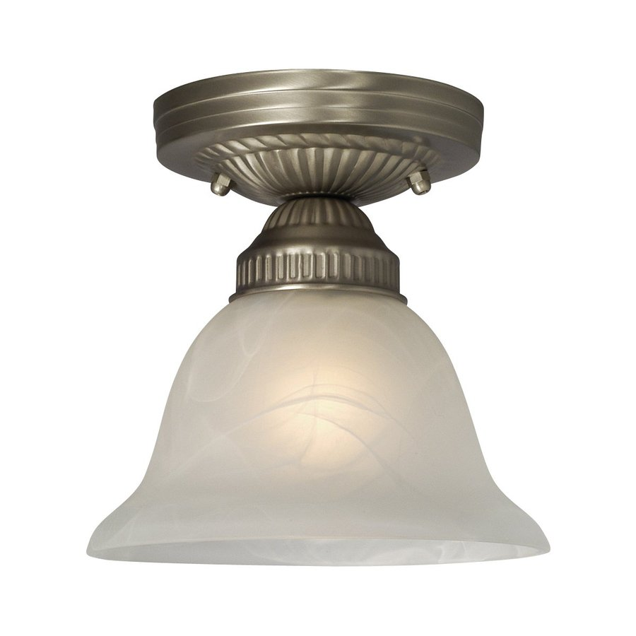 Galaxy Sarita 6.75-in W Pewter Marbleized Semi-Flush Mount Light
