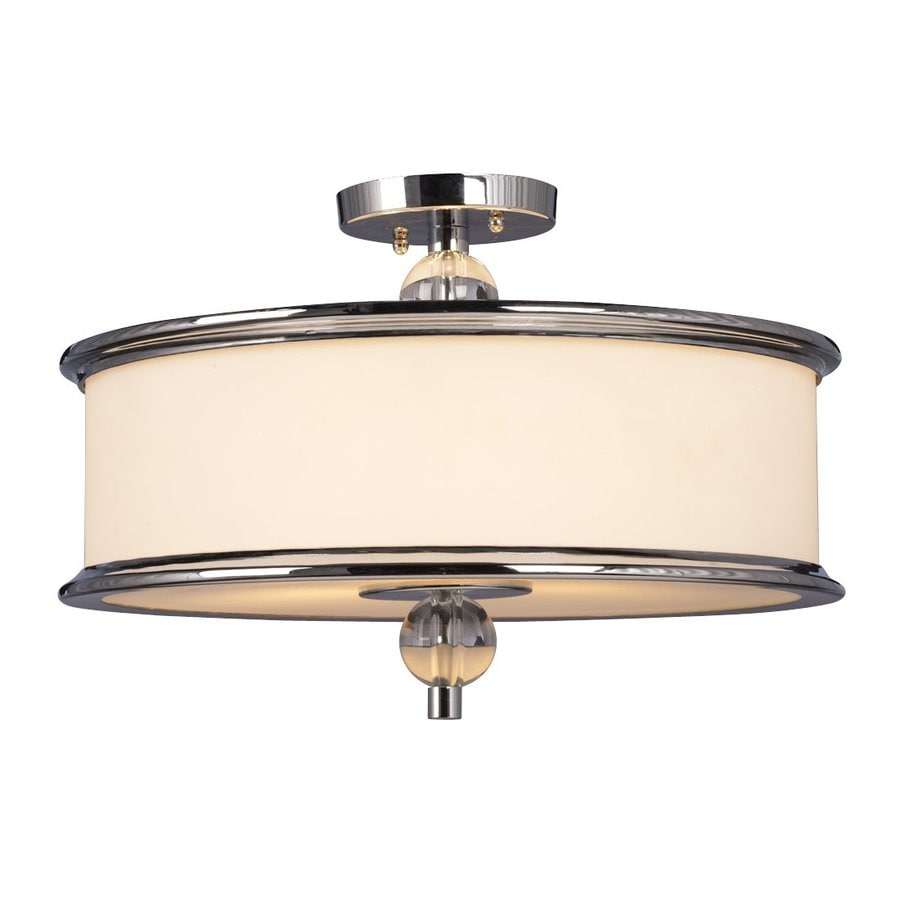 Galaxy Hilton 18-in W Chrome Semi-Flush Mount Light