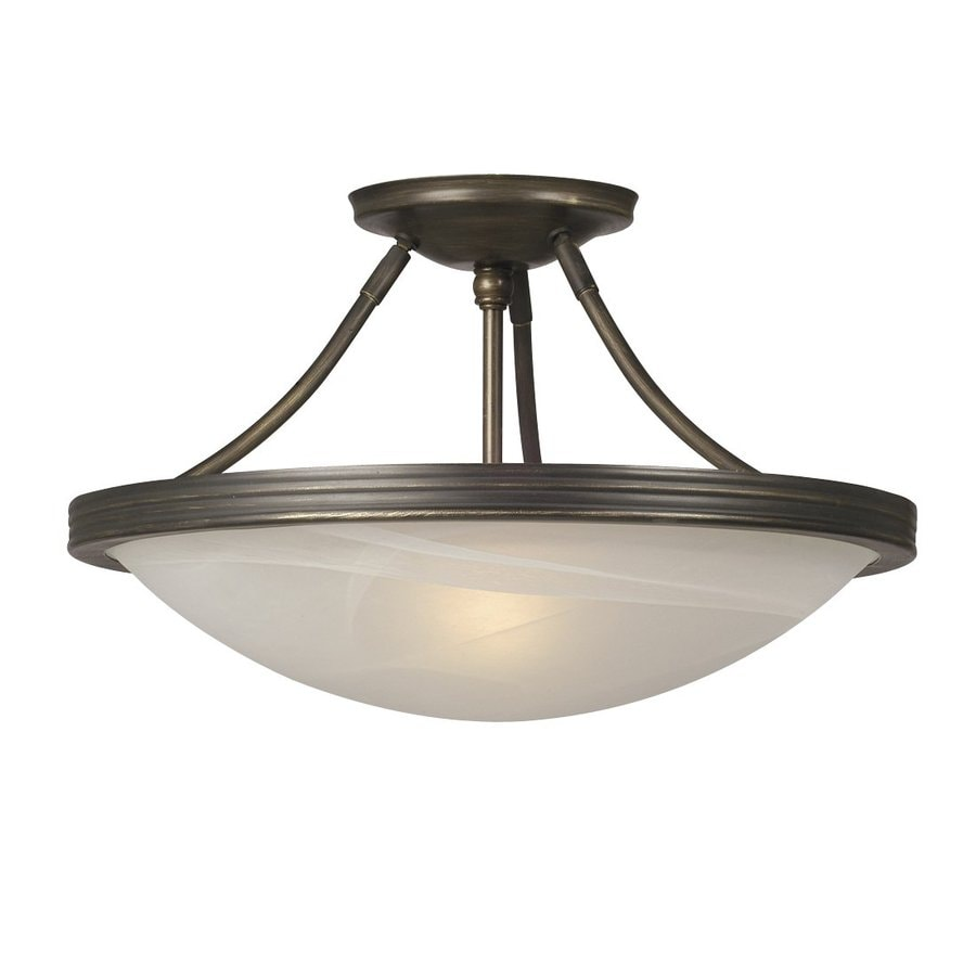 in w oil rubbed bronze marbleized semi flush mount light at