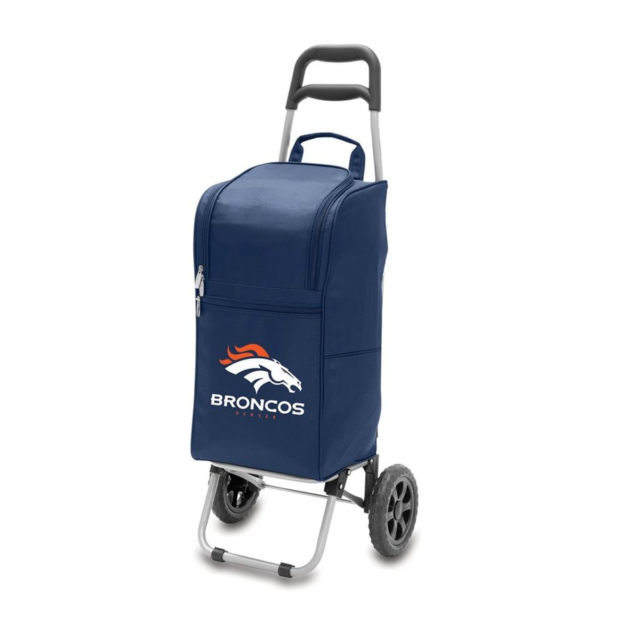 Picnic Time 15-Quart Denver Broncos Wheeled Polyester Cart Cooler