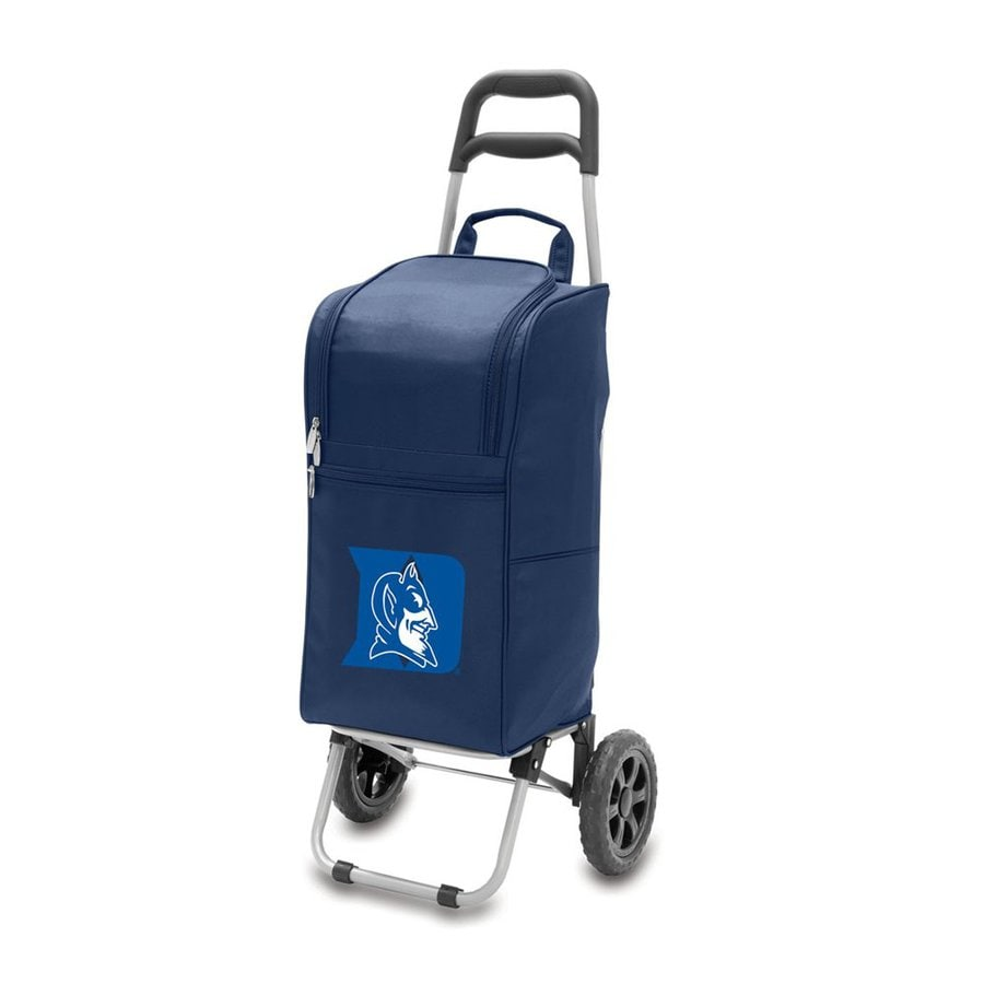 Picnic Time 15-qt Duke Blue Devils Wheeled Polyester Cart Cooler