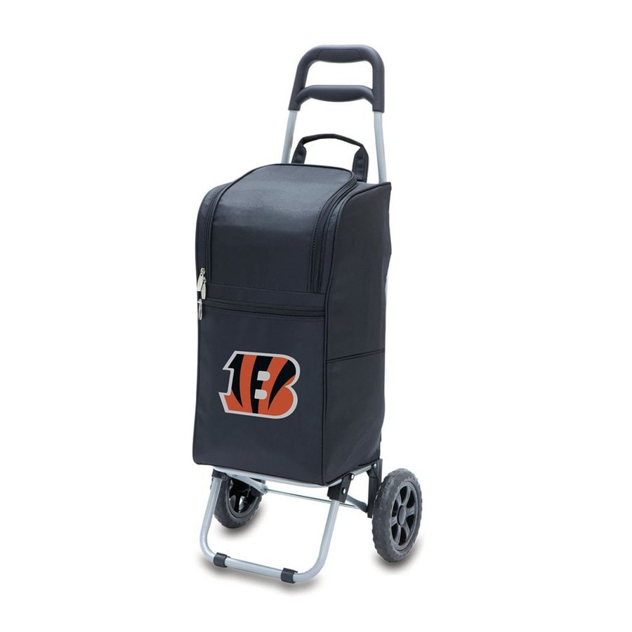 Picnic Time 15-Quart Cincinnati Bengals Wheeled Polyester Cart Cooler
