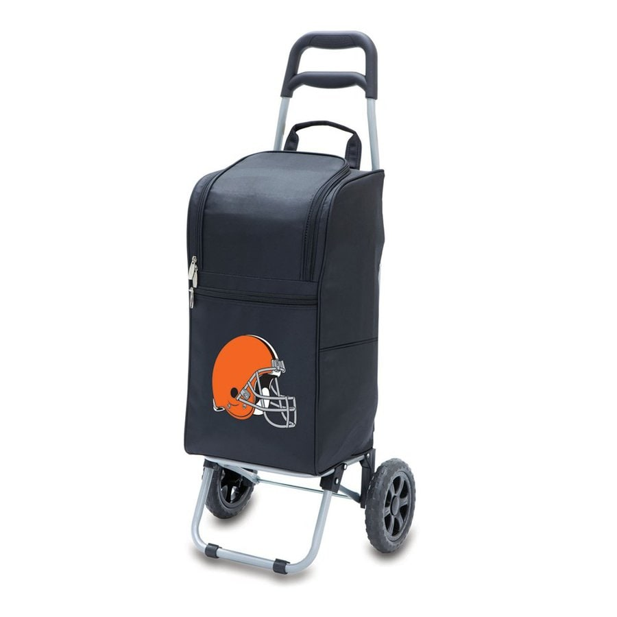 Picnic Time 15-Quart Cleveland Browns Wheeled Polyester Cart Cooler