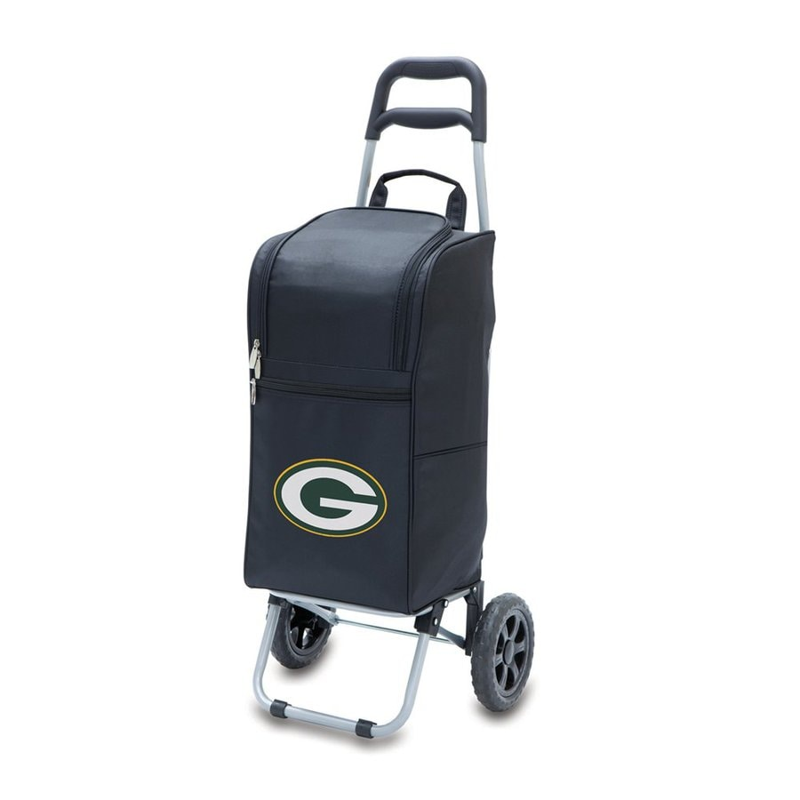 Picnic Time 15-Quart Green Bay Packers Wheeled Polyester Cart Cooler