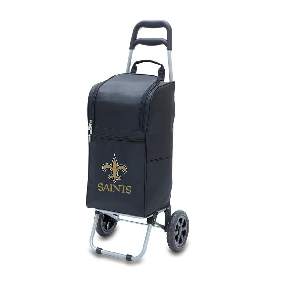 Picnic Time 15-Quart New Orleans Saints Wheeled Polyester Cart Cooler