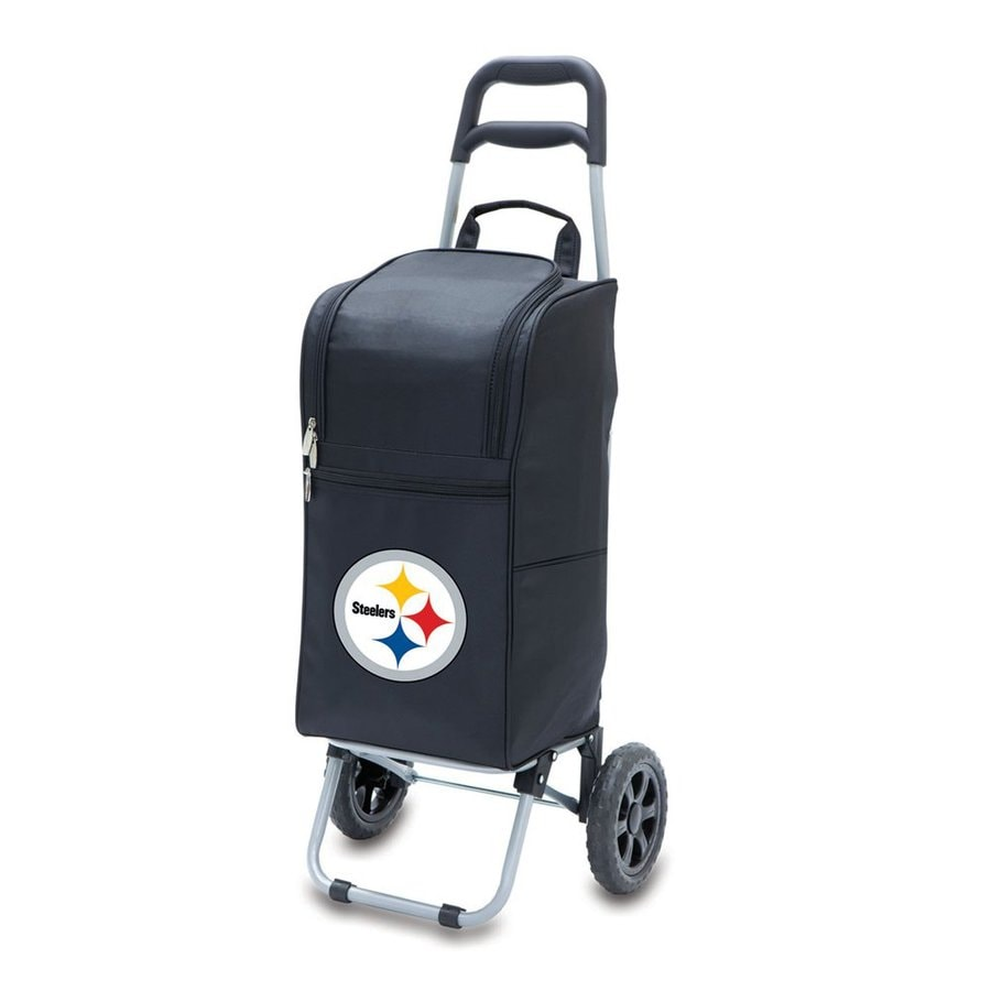 Picnic Time 15-Quart Pittsburgh Steelers Wheeled Polyester Cart Cooler