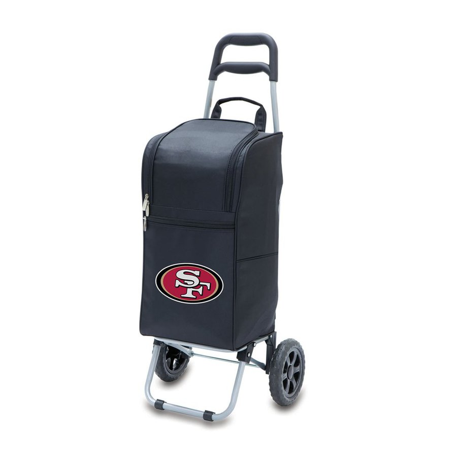 Picnic Time 15-Quart San Francisco 49Ers Wheeled Polyester Cart Cooler