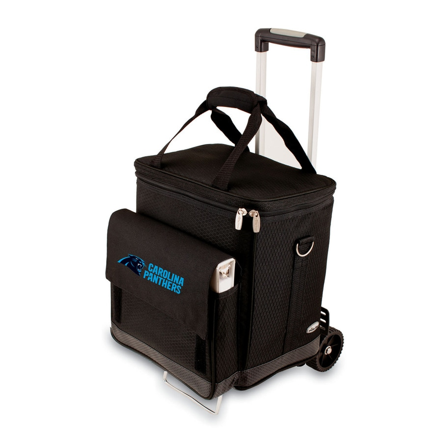Picnic Time Carolina Panthers Wheeled Polyester Cart Cooler