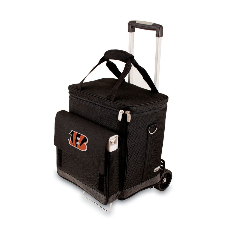 Picnic Time Cincinnati Bengals Wheeled Polyester Cart Cooler