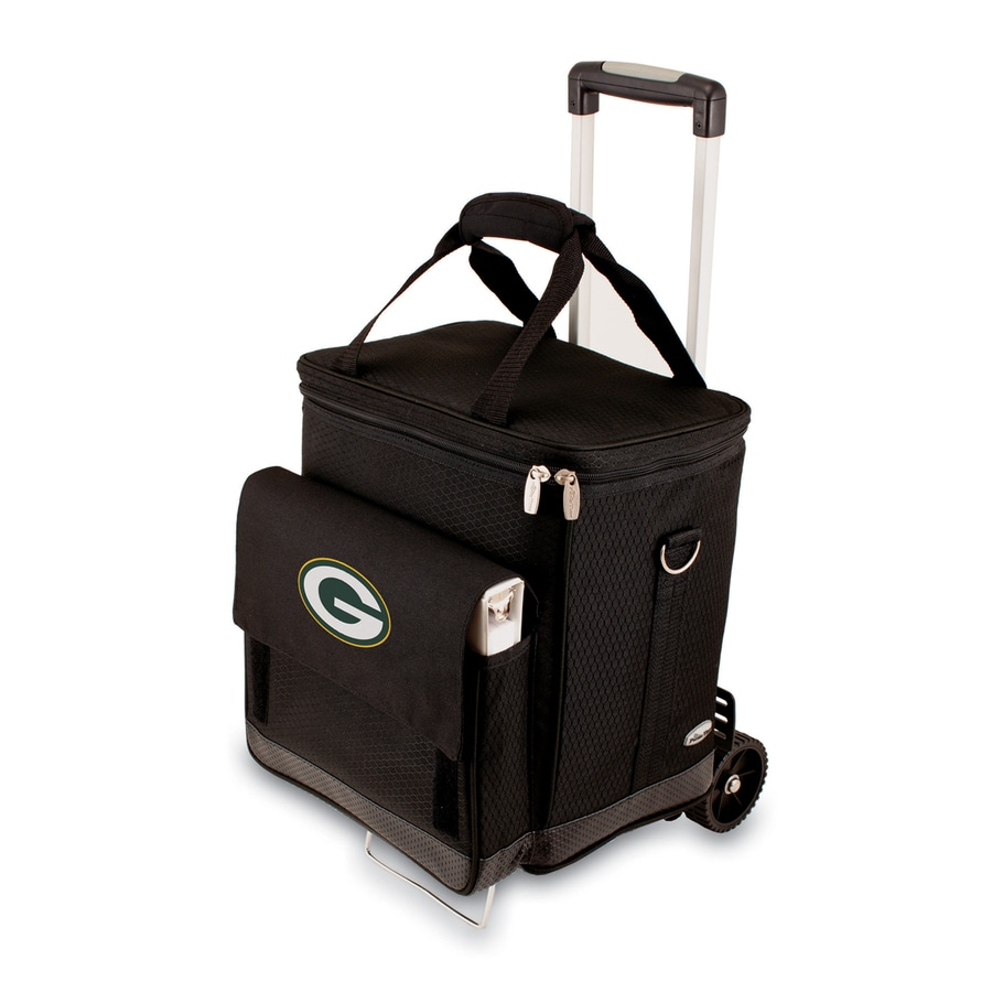 Picnic Time Green Bay Packers Wheeled Polyester Cart Cooler