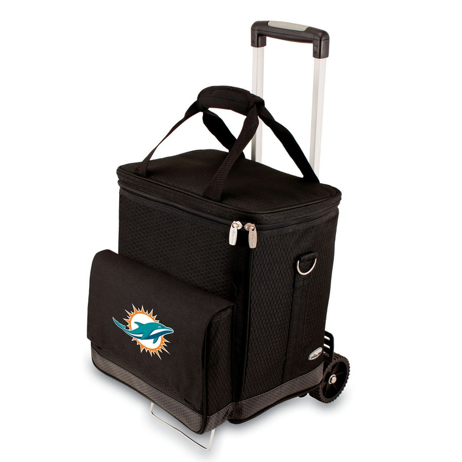 Picnic Time Miami Dolphins Wheeled Polyester Cart Cooler