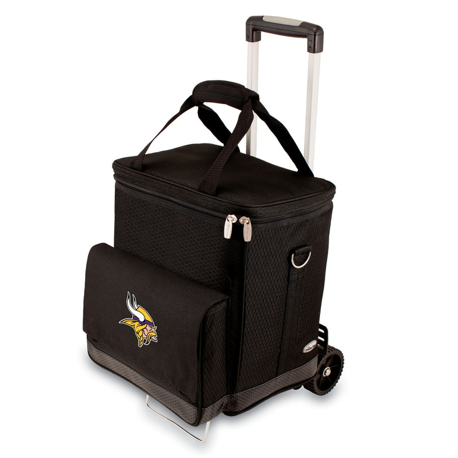 Picnic Time Minnesota Vikings Wheeled Polyester Cart Cooler