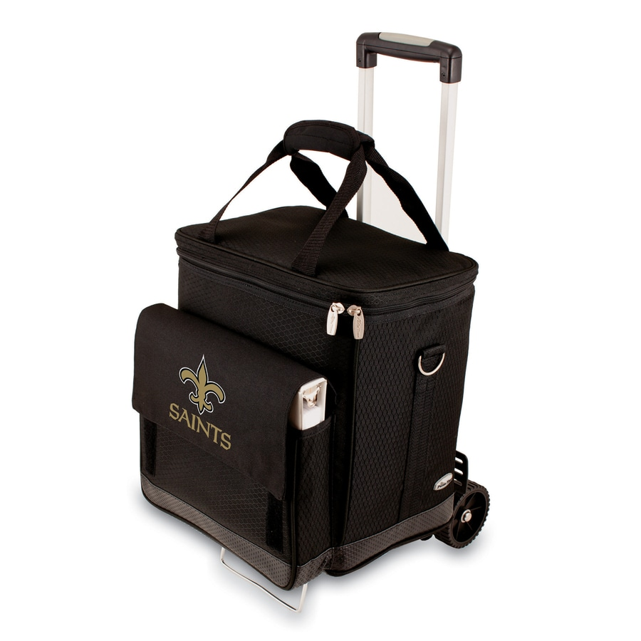 Picnic Time New Orleans Saints Wheeled Polyester Cart Cooler