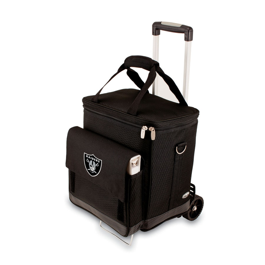 Picnic Time Oakland Raiders Wheeled Polyester Cart Cooler