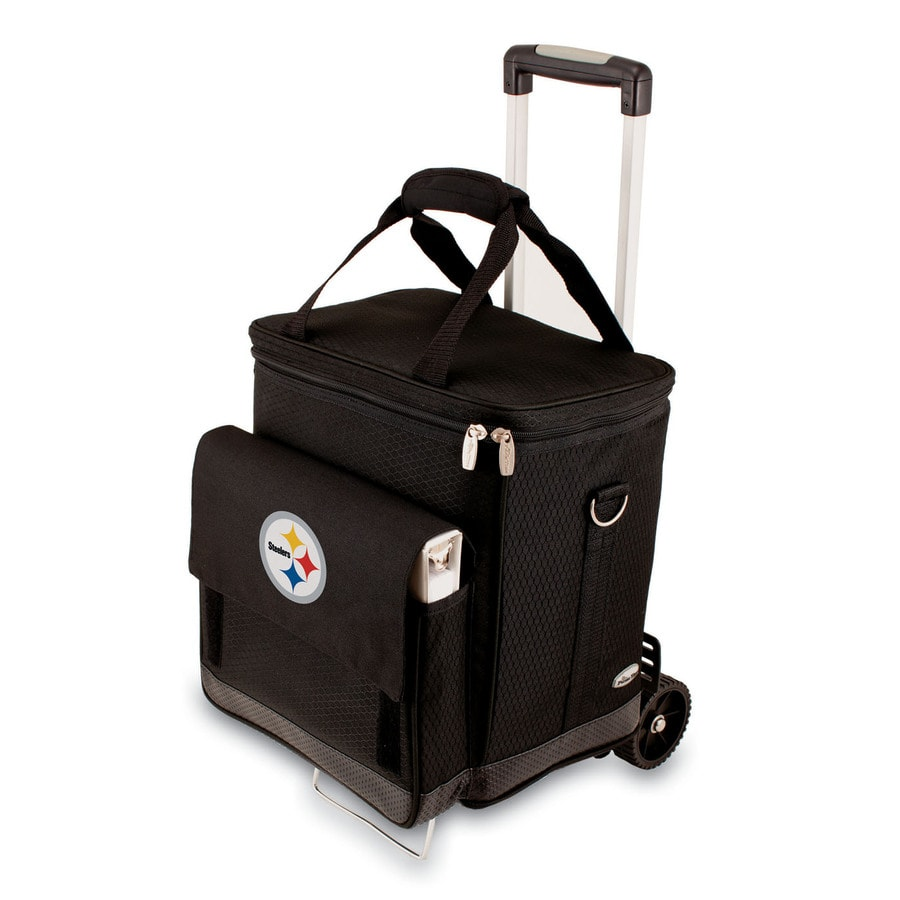 Picnic Time Pittsburgh Steelers Wheeled Polyester Cart Cooler